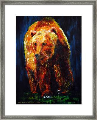Kobuk's Domain Contemporary Bear Painting Framed Print