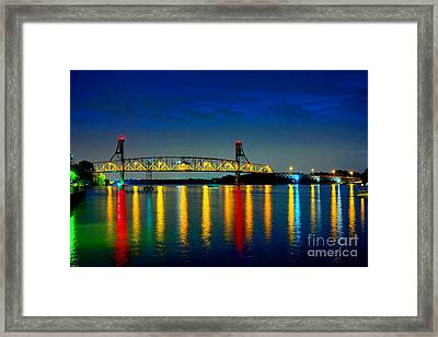Kodachrome Bridge Framed Print