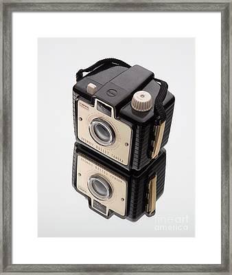 Kodak Brownie Bullet Camera Mirror Image Framed Print by Edward Fielding