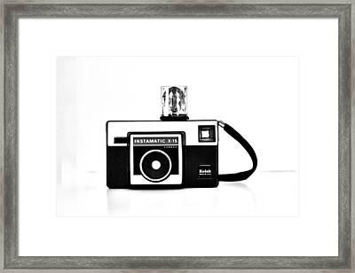 Kodak Instamatic In Black And White Framed Print