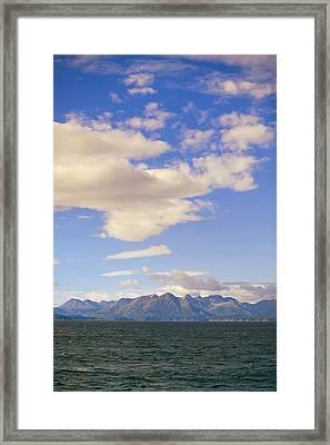 Kodiak Island As Seen From Alaska Framed Print by Kevin Smith