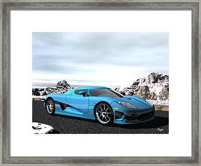 Koenigsegg Ccx Framed Print by John Pangia