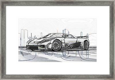 Koenigsegg Ccx Sketch  Framed Print