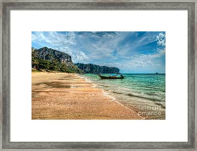 Koh Lanta Beach Framed Print by Adrian Evans