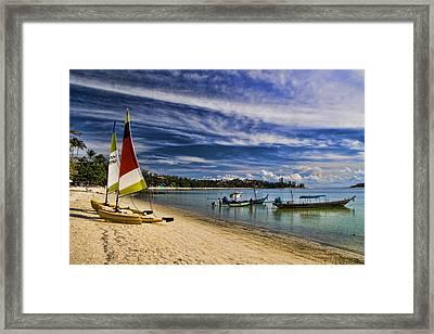 Koh Samui Beach Framed Print by David Smith