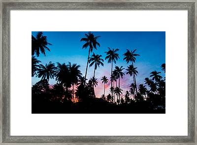 Koh Samui Sunrise Framed Print by Mike Lee