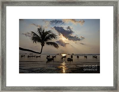 Koh Tao Sunset Framed Print by Alex Dudley