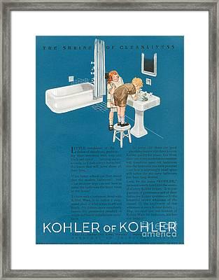 Kohler 1923 1920s Usa Cc Bathrooms Framed Print by The Advertising Archives