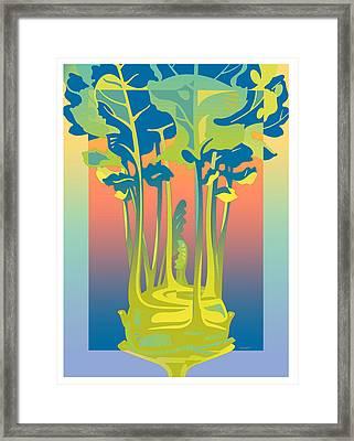 Kohlrabi Gradient Framed Print