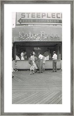 Kohr Bros Frozen Custard Atlantic City Nj Framed Print by Joann Renner