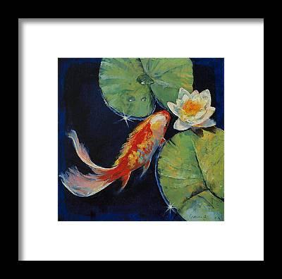 Japanese Koi Framed Prints