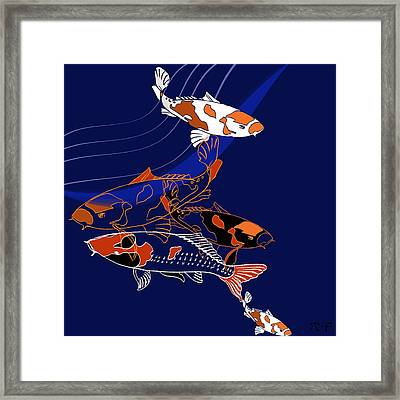 Koi Framed Print by Anna Platts