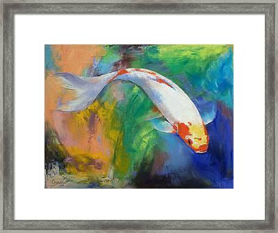 Koi Art Pirouette Framed Print by Michael Creese