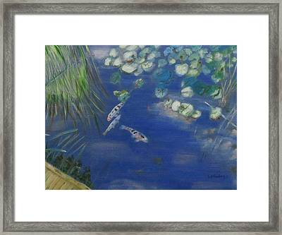 Koi At Red Butte Gardens Framed Print