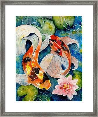 Koi Dance Framed Print