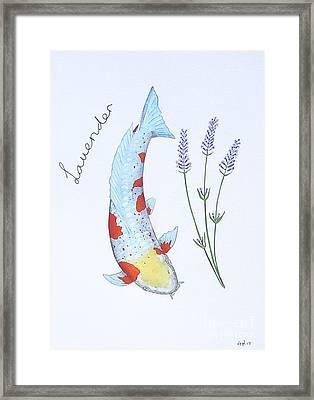 Koi Doitsu Ochiba Lavender Framed Print by Gordon Lavender