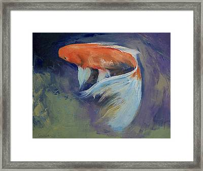 Koi Fish Painting Framed Print by Michael Creese