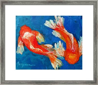 Koi Fish Framed Print by Patricia Awapara