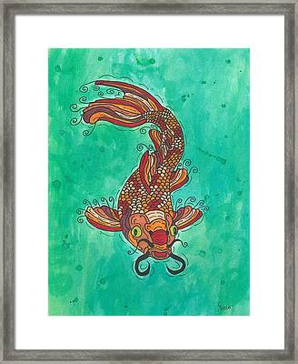 Koi Fish Framed Print by Susie Weber