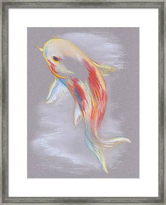 Koi Fish Swimming Framed Print by MM Anderson
