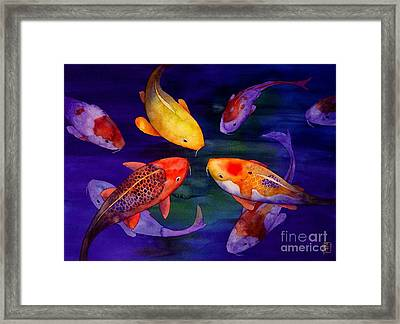 Koi Friends Framed Print by Robert Hooper