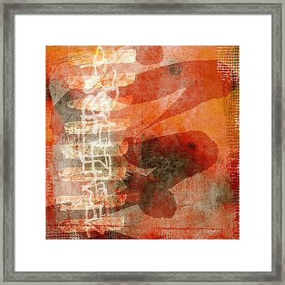 Koi In Orange Framed Print by Carol Leigh