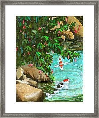 Koi Kingdom Framed Print