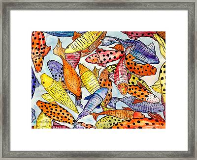Koi Framed Print by Lisa Aerts