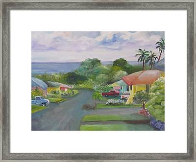 Koi Loop Hawaii Framed Print by Maria Milazzo