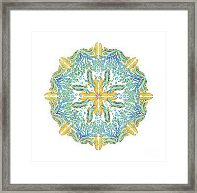 Koi Mandala Framed Print by Stephanie Troxell