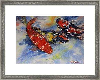 Koi Party Framed Print by Enola McClincey