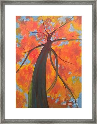 Koi Tree Framed Print by Piotr Wolodkowicz