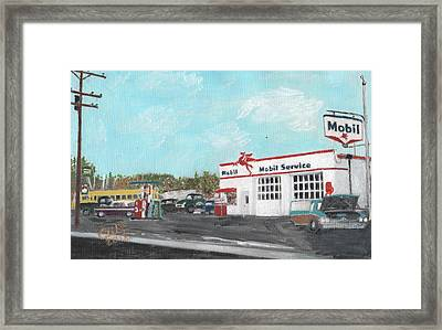 Koki's Garage Framed Print