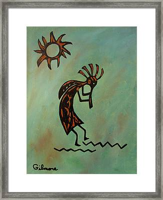 Kokopelli Flute Player Framed Print