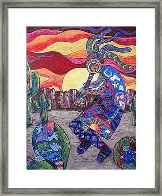 Kokopelli  Framed Print by Megan Walsh
