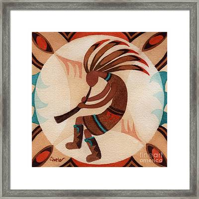 Kokopelli Moon Framed Print by Vikki Wicks