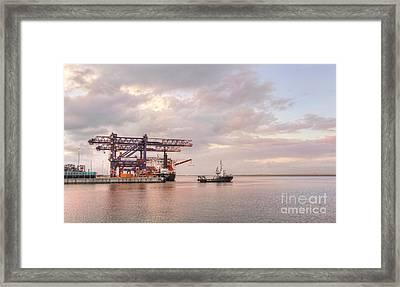 Kokopo Chief Cargo Ship At Port Botany Framed Print