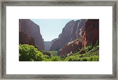 Kolob Canyons Area Of Zion National Park Framed Print