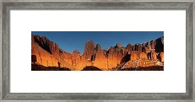 Kolob Canyons Evening Glow Framed Print by Leland D Howard