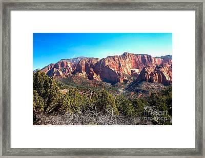 Kolob Canyons Framed Print