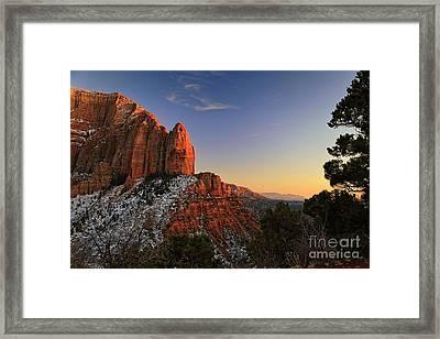 Kolob Sunset Framed Print