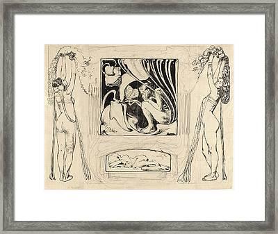 Koloman Moser, Austrian 1868-1918, Allegory Of Summer Framed Print by Litz Collection