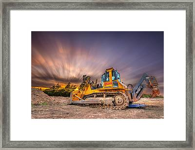 Komatsu Bulldozer Framed Print