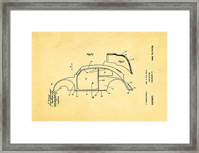 Komenda Vw Beetle Body Design Patent Art 2 1944 Framed Print