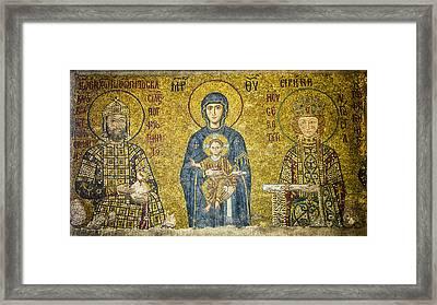 Komnenos Mosaic Framed Print by Stephen Stookey