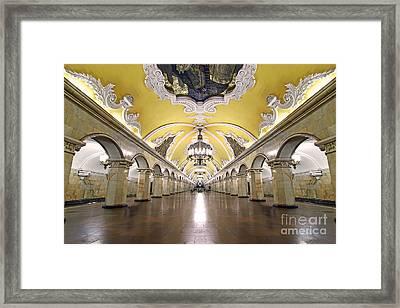 Komsomolskaya Station In Moscow Framed Print by Lars Ruecker