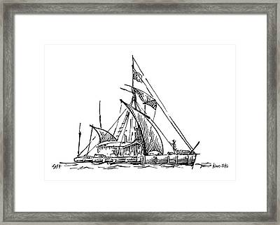 Kon-tiki Balsa Raft Framed Print by Gary Hincks