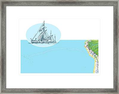Kon-tiki Expedition Route Framed Print