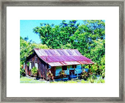 Kona Coffee Shack Framed Print by Dominic Piperata
