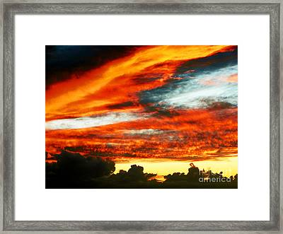 Framed Print featuring the photograph Kona Sunset 77 Lava In The Sky  by David Lawson
